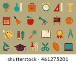 icons on the theme of school... | Shutterstock .eps vector #461275201