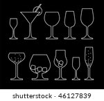 collection of alcoholic glass | Shutterstock .eps vector #46127839
