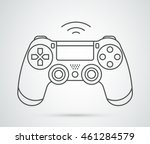 Simple vector gamepad icon. Joypad, joystick illustration isolated on white background