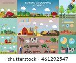 big farming infographic set... | Shutterstock .eps vector #461292547