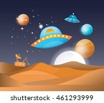 vector illustration of a space... | Shutterstock .eps vector #461293999