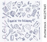 back to school illustration.... | Shutterstock .eps vector #461297665