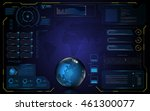 abstract hud ui interface... | Shutterstock .eps vector #461300077
