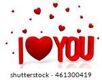 3d i love you card | Shutterstock . vector #461300419