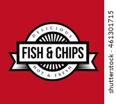 fish and chips vintage stamp | Shutterstock .eps vector #461301715