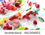 popsicles with berries on white ... | Shutterstock . vector #461306851