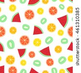 fruits pattern background of... | Shutterstock .eps vector #461310385