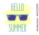 summer greetings vector... | Shutterstock .eps vector #461312035