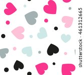 seamless hearts and dots... | Shutterstock .eps vector #461312665