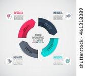 vector arrows infographic.... | Shutterstock .eps vector #461318389