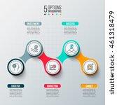 template for infographic vector ... | Shutterstock .eps vector #461318479