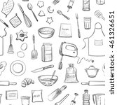 collection of vector drawings.... | Shutterstock .eps vector #461326651