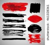 large grunge elements set.... | Shutterstock .eps vector #461328361