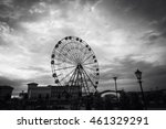 scary black and white ferris... | Shutterstock . vector #461329291