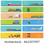 transportation banners set... | Shutterstock .eps vector #461337457