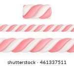 Marshmallows Candy  Vector...