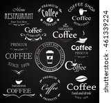 coffee badges set of elements... | Shutterstock .eps vector #461339224