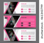 Pink Banner Template Vector ...
