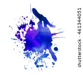 expressive abstract watercolor... | Shutterstock .eps vector #461344051