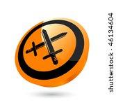modern sword sign   Shutterstock .eps vector #46134604