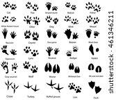 Set Of Animal And Bird Trails...