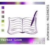 book vector icon | Shutterstock .eps vector #461348251