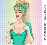 pin up sexy woman showing... | Shutterstock .eps vector #461350141