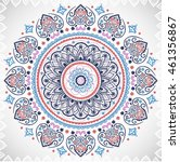 indian floral paisley medallion ...   Shutterstock .eps vector #461356867