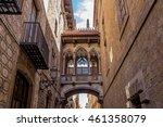 barcelona gothic quarter ... | Shutterstock . vector #461358079