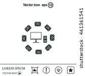 mail computer  vector... | Shutterstock .eps vector #461361541