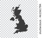 uk map | Shutterstock .eps vector #461361784