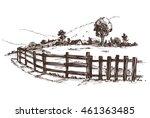 countryside sketch. vector...   Shutterstock .eps vector #461363485