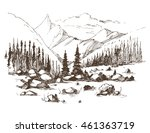 mountain landscape. vector...   Shutterstock .eps vector #461363719