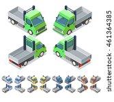 car icon set. isometric 3d... | Shutterstock .eps vector #461364385