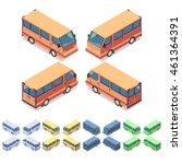 car icon set. isometric 3d... | Shutterstock .eps vector #461364391