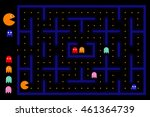 Pacman Game With Ghosts  Maze...