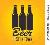 banner with a bottles of beer...   Shutterstock .eps vector #461365111