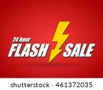 text 24 hour flash sale on red... | Shutterstock .eps vector #461372035