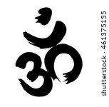 om sign painted by brush.... | Shutterstock .eps vector #461375155
