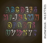 font  write on the blackboard... | Shutterstock .eps vector #461377321