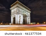 arc de triomphe paris   france. ... | Shutterstock . vector #461377534