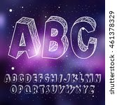 alphabet constellation space ... | Shutterstock .eps vector #461378329