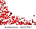 valentine background with place ... | Shutterstock .eps vector #46137967