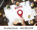 navigation location mapping... | Shutterstock . vector #461381239