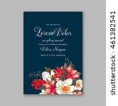 wedding  invitation or card ... | Shutterstock .eps vector #461382541