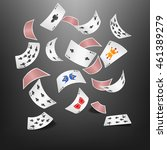 poker card club scattered | Shutterstock .eps vector #461389279