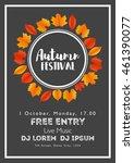 fall festival template. bright... | Shutterstock .eps vector #461390077