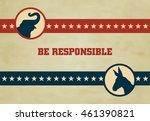 voting symbols vector design...   Shutterstock .eps vector #461390821