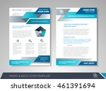 front and back page brochure... | Shutterstock .eps vector #461391694
