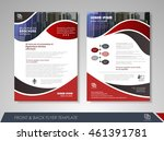 front and back page brochure... | Shutterstock .eps vector #461391781